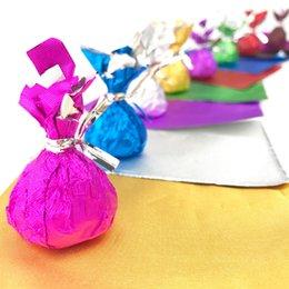 la vigilanza di natale di natale all'ingrosso Sconti Fogli di carta per dolci caramelle Pacchetto 10 * 10cm cioccolato carta stagnola calda Wrapper Piazza 8 colori 300pcs / lot
