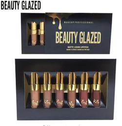 Facendo trucco online-6 Pz / lotto Matte Rossetti Non Sbiadito Liquido Lip Gloss Idratante Edizione Compleanno Lipgloss Rossetto Lip Makeup Maquiagem
