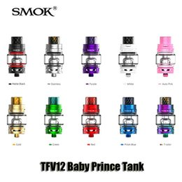 Wholesale Atomizer Mesh - 100% Original TFV12 Baby Prince Tank 4.5ml Patented Locking Mechanism Atomizer With Cobra Drip Tip Bulb Glass Tube Mesh Coil