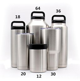Wholesale Oz Wines - Travel Cups Vacuum Wine Beer Mugs 30 oz 20 oz cup Double layer 304 stainless steel insulation Cup Car Cup DHL free shipping