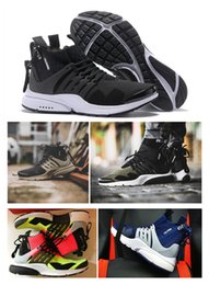 Wholesale X Volt - New 2018 ACRONYM x Air Presto Mid ZIP Mens Running Shoes High Quality Sportswear vibrant Hot Lava Volt Sports Sneakers Shoes Size 7-11