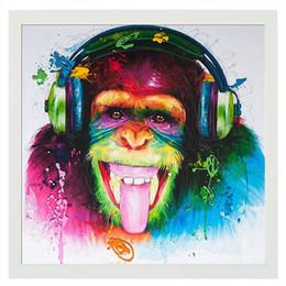 2019 camas modernas Pinturas al óleo Sala de estar Living Room Chimpanzee Animal Corridor Modern Simple Frameless Suspensión Decorativa Envío Libre 16kx5 V camas modernas baratos