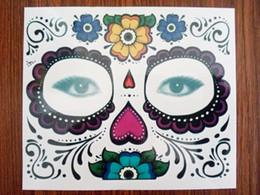 Pegatinas para pintar el cuerpo online-Etiqueta engomada de la cara de la manera Body Art Sticker Holloween Fiesta de Navidad Maquillaje tatuaje Paster Impermeable Etapa Face-pintura de Papel Envío Gratis