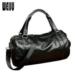 9952c1efc71d Brand Men PU Leather Travel Bag Women Hand 2016 New Men s Portable Shoulder  Bag Vintage Mens Leather Travel Duffle Bags