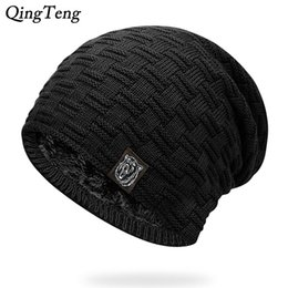 Mens Winter Hat Casual Brand Knitted Ladies Hats Beanies Stocking Hat Plus  Velvet Rasta Cap Skull Bonnet Hats For Men 9a7311e7d9d3