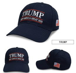 NEW ARRIVAL Embroidery Trump 2020 Make America Great Again Donald Trump  Baseball Caps Hats USA Flag Adults Sports Hat 6ae670338e0f