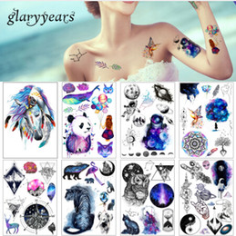 4af488408f7 15 Sheet lot Beauty Decal Waterproof Tattoo Sticker Cute Colored Horse  Animal Pattern Women Girl Body Art Temporary Tattoo Removable