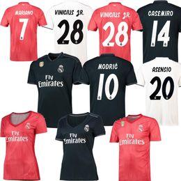 7de15a1358 NEW VINICIUS JR Real Madrid Casa branco longe preto terceiro homens  vermelhos camisa de futebol Mariano Modric Isco Ramos Asensio Mulheres  camisa de futebol ...
