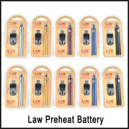 2019 sigelei gold Gesetz Vorheizen Batterie Blister Ladegerät Kit 1100mAh Vorheizen O Pen Bud Touch Variable Voltage Batterie Vorheizen für CE3 G2 G5 Patronen DHL
