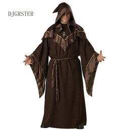 Canada DJGRSTER Halloween Costumes Adulte Hommes Gothique Costume Costume Européen Religieux Hommes Priest Uniforme Fantaisie Cosplay Costumes Offre