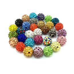 Wholesale Earrings Supplies - 10mm Ceramic&Rhinestone Beads Jewelry Making Supplies Love Bracelet DIY Jewelry for Women Mens Bracelets Necklace Choker Earrings Bracciali