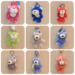 Wholesale christmas stuffed panda bear - 10CM NICI Monkey Plush Toy Keychain 4inch Doll Monkey giraffe Bear dog panda Stuffed animal Kids Toy Key Chains interactive funny Xmas Gifts