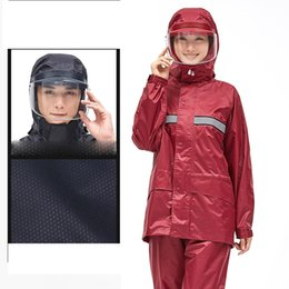 8ef7b799e Motorcycle rider Raincoat Suit Impermeable Women Men Helmet cap eaves Moto Poncho  Motorcycle Rainwear Hiking Fishing Rain Gear motorcycles rain suit for ...