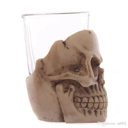 clay decor Coupons - 3D Skull Mug Fashion Novelty Wine Glasses Unique Horrible Design Gift Cup For Bar Club Party Decor Supplies New Arrival 15gf ZZ