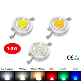 Wholesale Epistar Red Led Chip - 10Pcs 1W 3W High Power LED Bulb White Warm White Cold White Red Green Blue Light Taiwan Epistar Chip For DIY Spotlight Downlight