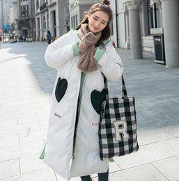 Wholesale Korean Winter Wear Women - Love pocket double-sided wear cotton 2017 new Korean version of the winter long knee hooded padded coat loose women