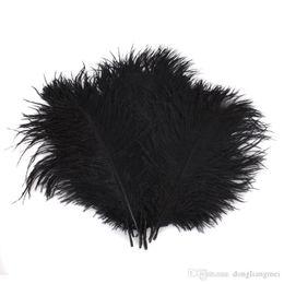 Wholesale Black Ostrich Plumes - Colorful 22-24 inch(55-60 cm) white Ostrich Feather plumes for wedding centerpiece wedding party event decor festive decoration Z134