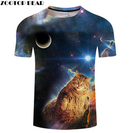 1625e1ec Cat tshirt Men Women t shirt Cartoon Tee Galaxy t-shirt 3D Streatwear Top  Anime Short Sleeve Tees Summer 6XL Dropship ZOOTOPBEAR