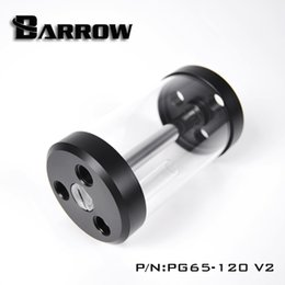 v2 case Promo Codes - Barrow White Black 120 170 220 270MM 65MM diameter cylindrical quartz glass tank cooling water tank computer PG65 V2
