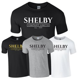 Camisetas de tommy online-SHELBY COMPANY LIMITED Top camiseta Shelby Tommy Cillian Murphy Peaky Blinders Imprimir camiseta Manga corta para hombre Hot Print