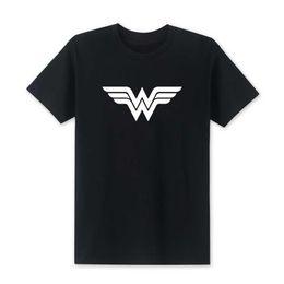 Wholesale Blue Wonder Black - New Wonder Woman T Shirt 2018 Summer Fashion T-Shirts Men T Shirt Cotton O-Neck Short Sleeve Tee Tops high Quality