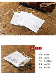 Wholesale Pyramid Bags - new 9*7cm Biodegradable Non-woven Pyramid Tea Bag Filters TeaBag Single String Transparent Empty Tea Bags