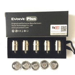 Cabezas de ceramica online-Auténtico Yocan Evolve Plus Bobinas de repuesto QDC Quatz Dual Ceramic Donut Pure Coil Kits 100% originales VS Evolve-D NYX Pandon