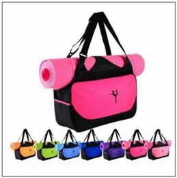 Wholesale yoga fitness mat - 9 Colors Multifunctional Yoga Bag Fitness Mat Yoga Backpack Waterproof Supplies Bag Yoga Mat Storage Bag CCA9364 30pcs