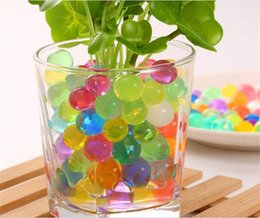 2019 perlas de riego para las plantas Sin suelo jardinería suelo de barro cristalino Big Water Beads Bio bola de gel para flores Weeding Plants G348 rebajas perlas de riego para las plantas