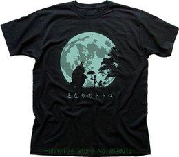Felicidade negra on-line-Meu Vizinho Totoro Felicidade T-shirt Preta Fn9407