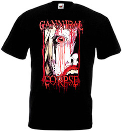Poster in metallo nero online-Maglietta Cannibal Corpse nera poster death metal taglie S-5XL