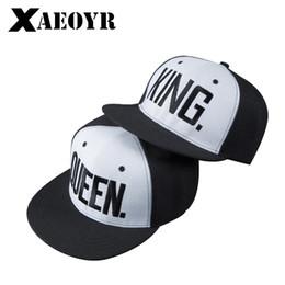 1PC KING QUEEN Embroidered Snapback Caps Lover Men Women Baseball Cap Black  Hip Hop Cap Snapback hats ecac6dd5a97e