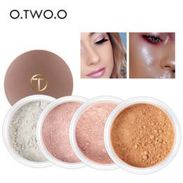 porte médiatique Promotion O.TWO.O Maquillage en poudre en vrac Glitter or visage mise en poudre poudre contrôle de l'huile en poudre palette de contour cosmétique iluminador