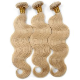 Wholesale Best Selling Hair Color - Best Selling Ishow Hair Hot Selling Brazilian Body Wave Human Weft 613 Blonde Hair 3PCS  lot Peruvian Hair Weave Bundles Free Shipping
