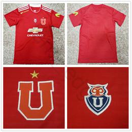 Wholesale u s shorts - 2018 2019 Universidad de Chile Soccer Jersey PINILLA PIZARRO UBILLA REYES MEDEL 18 19 La U Away Red Football Shirt camiseta de futbol