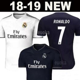 Wholesale Real Football Jerseys - Real madrid 2018 jerseys RONALDO ASENSIO MODRIC soccer jersey football shirt BALE RAMOS BENZEMA Camiseta 18 19 real madrid maillot