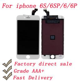 мобильный телефон с лезвиями Скидка Сменный сенсорный ЖК-экран AAA + ЖК-дисплей с рамной сборкой для iphone 6 6s 4.7inch 6 6s Plus 5.5inch