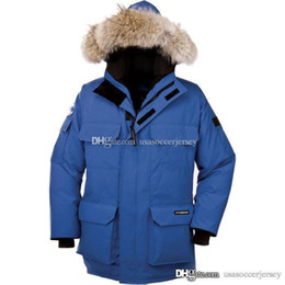 Wholesale Men S Winter Jacket Blue - Outdoor Canada thickening warm large size loose fashion big goose down jacket hooded fur collar solid color jacket winter
