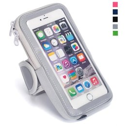 Wholesale telephone cases - Universal Waterproof Mobile Phones Sports Armband for iphone X Running Phone Arm band Brassard Telephone Holder Arm Cases pouch