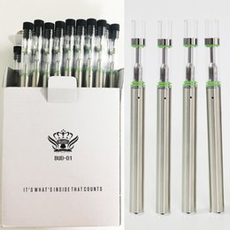 Бутон D1 Одноразовая электронная сигарета Керамическая катушка Стеклянные резервуары Vape 0.5 мл Vape 310 мАч Батарея Одноразовые Пустые картриджи Vape Pen Огромный пар от