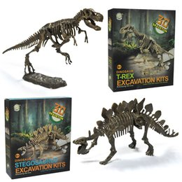 Wholesale ultimate models - Ultimate Dinosaur Science Kit Dig Up Dinosaur and Assemble a T Rex 3D Skeleton Ancient Animal Excavation Model Brinquedos 2018