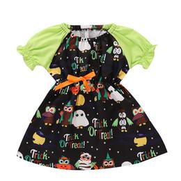 Vestidos de fiesta de la historieta del niño online-La princesa de Halloween de la niña viste a las niñas pequeñas del Bowknot del partido del vestido de la ropa de la historieta de la novedad del vestido del bebé vestido