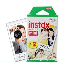 Wholesale Polaroid Instant Camera Film - New Instax mini film camera photographic papers Photo camera Film White Sheet Camera Christmas Mini 7 8 7s 25 20 Sheets boxes Polaroid