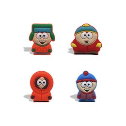 Wholesale cute magnets - Free Shipping Cute Cartoon South Park Fridge Magnets Creative PVC Home Decoration Refrigerator Magnets Blackboard Stickers Kids Party Gifts