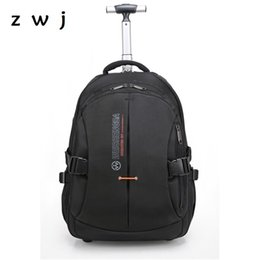 Brand Nylon Water proof Travel Luggage Bag suitcase with wheels rolling  luggage travel trolley backpack C18111901 8d6398f476342