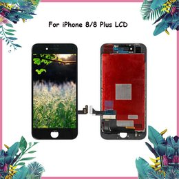 grading panel Promo Codes - 5PCS For iphone 8 & 8 Plus LCD Screen Panels Grade A+++ LCD Display Touch Screen Digitizer with Frame Full Assembly Replacement