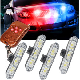 12v светодиодная лампа Скидка Wireless Remote 4x3/led Ambulance  light DC 12V Strobe Warning light for Car Truck Emergency Flashing Firemen Lights