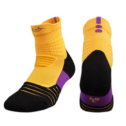Wholesale Art Towel - Wholesale Men Elite Outdoor Sports Basketball Socks Professional Cycling Socks Thicker Towel Bottom Non-slip Male Compression Running Socks