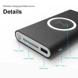 10000 mah Banque de puissance Batterie externe Charge rapide sans fil Chargeur Powerbank Portable Téléphone Chargeur de téléphone pour iPhone x 8 8 Plus ? partir de fabricateur