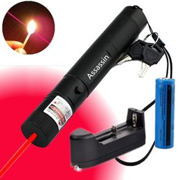 Wholesale Laser Lights Pens - 301 Burning Red Laser Pen Pointer 5mw 650m Visible Beam Light Powerful Red Laser + 18650 Battery + Charger